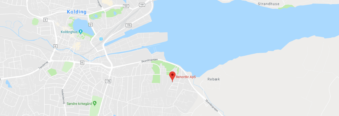 Google map over Benordic